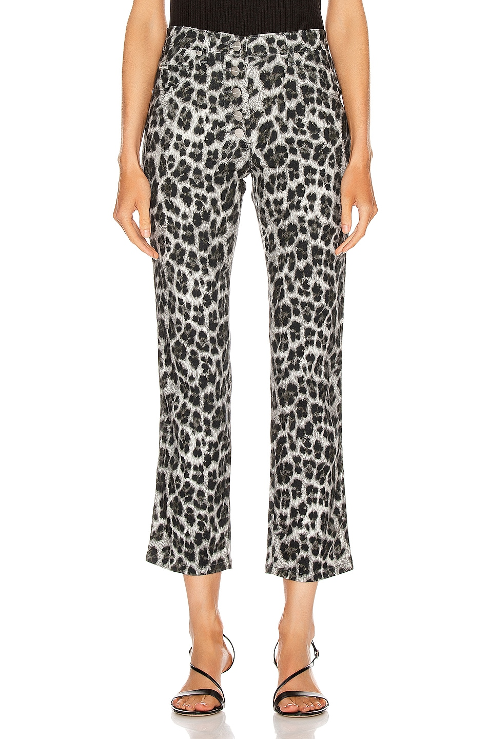 Image 1 of Miaou Junior Pant in Grey Leopard