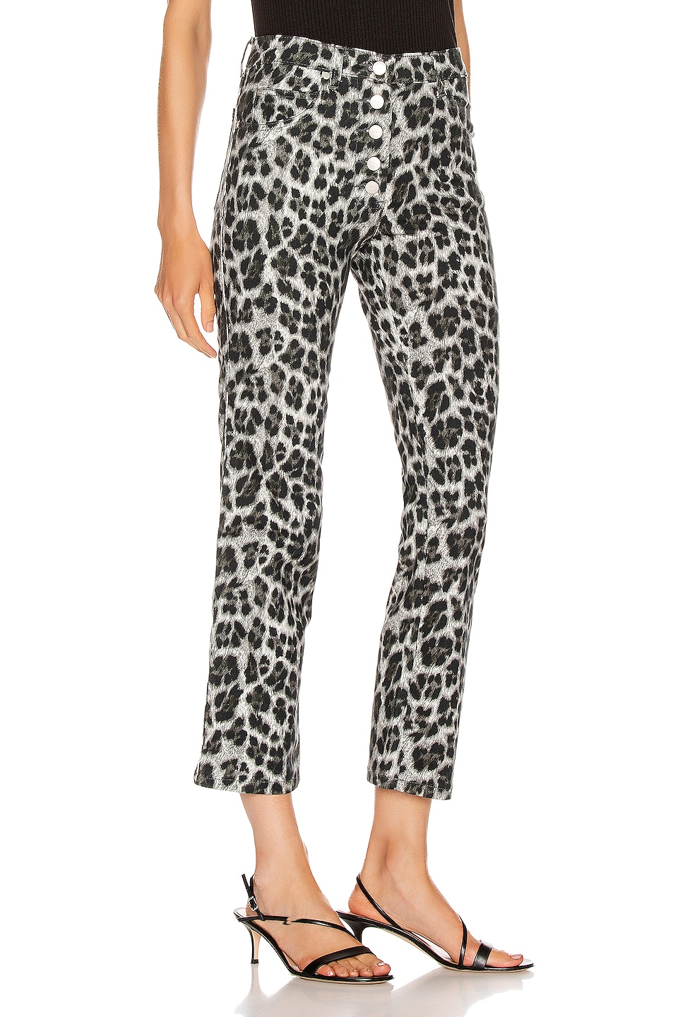 Image 2 of Miaou Junior Pant in Grey Leopard