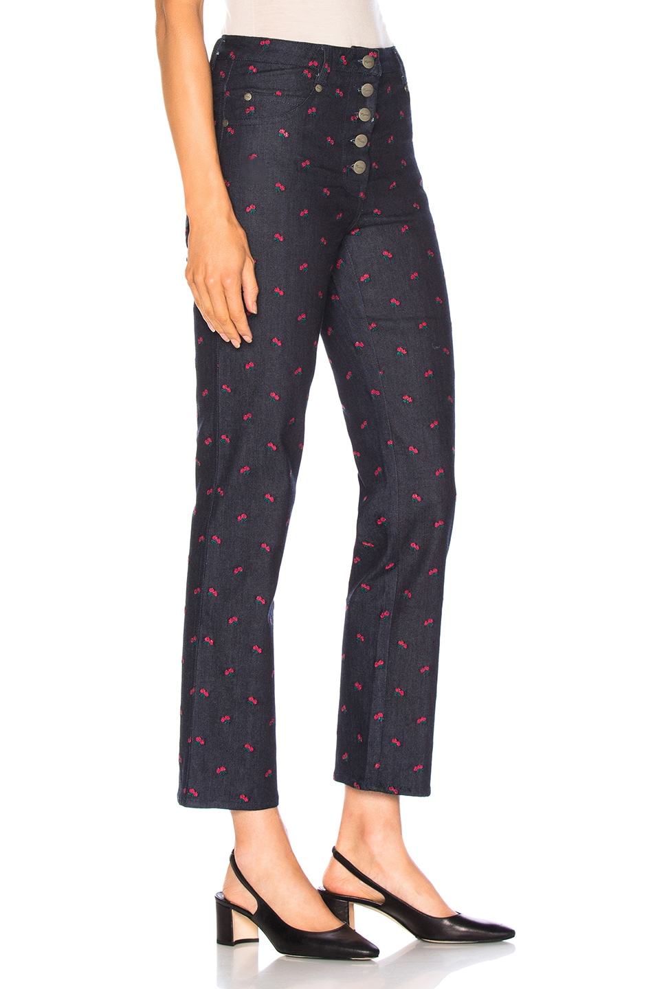 Image 2 of Miaou Junior Pant in Rose Embroidery