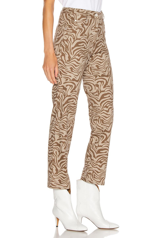 Image 2 of Miaou Zip Fly Junior Pant in Tan Zebra
