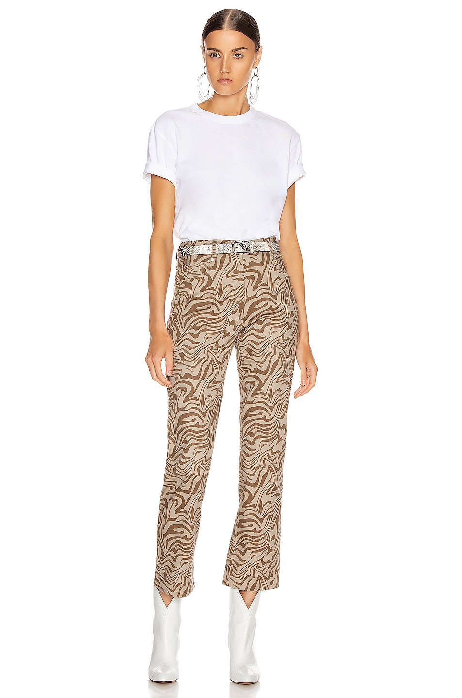 Image 4 of Miaou Zip Fly Junior Pant in Tan Zebra