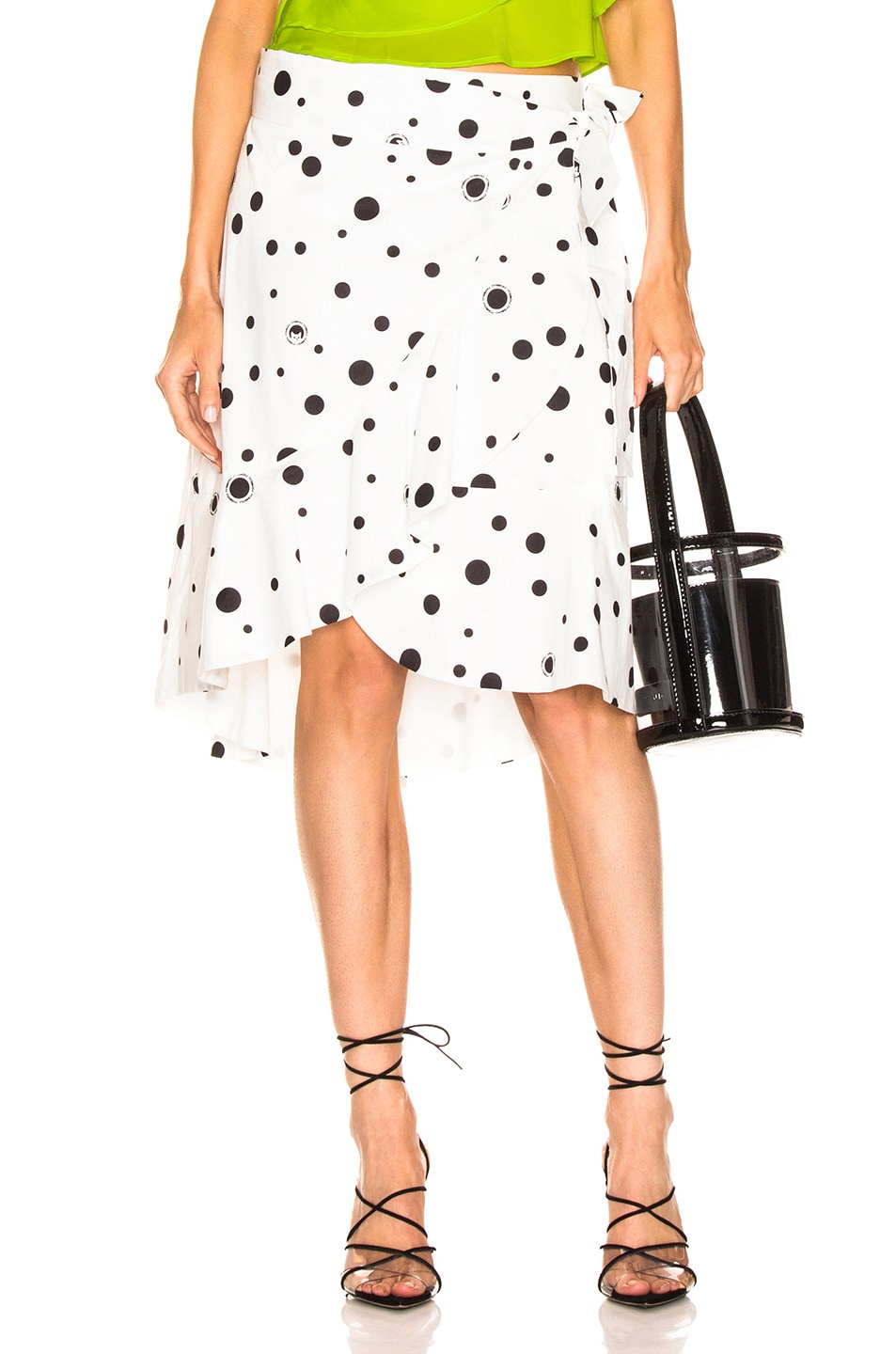 Image 1 of Miaou Cecilia Skirt in White Polka Dot