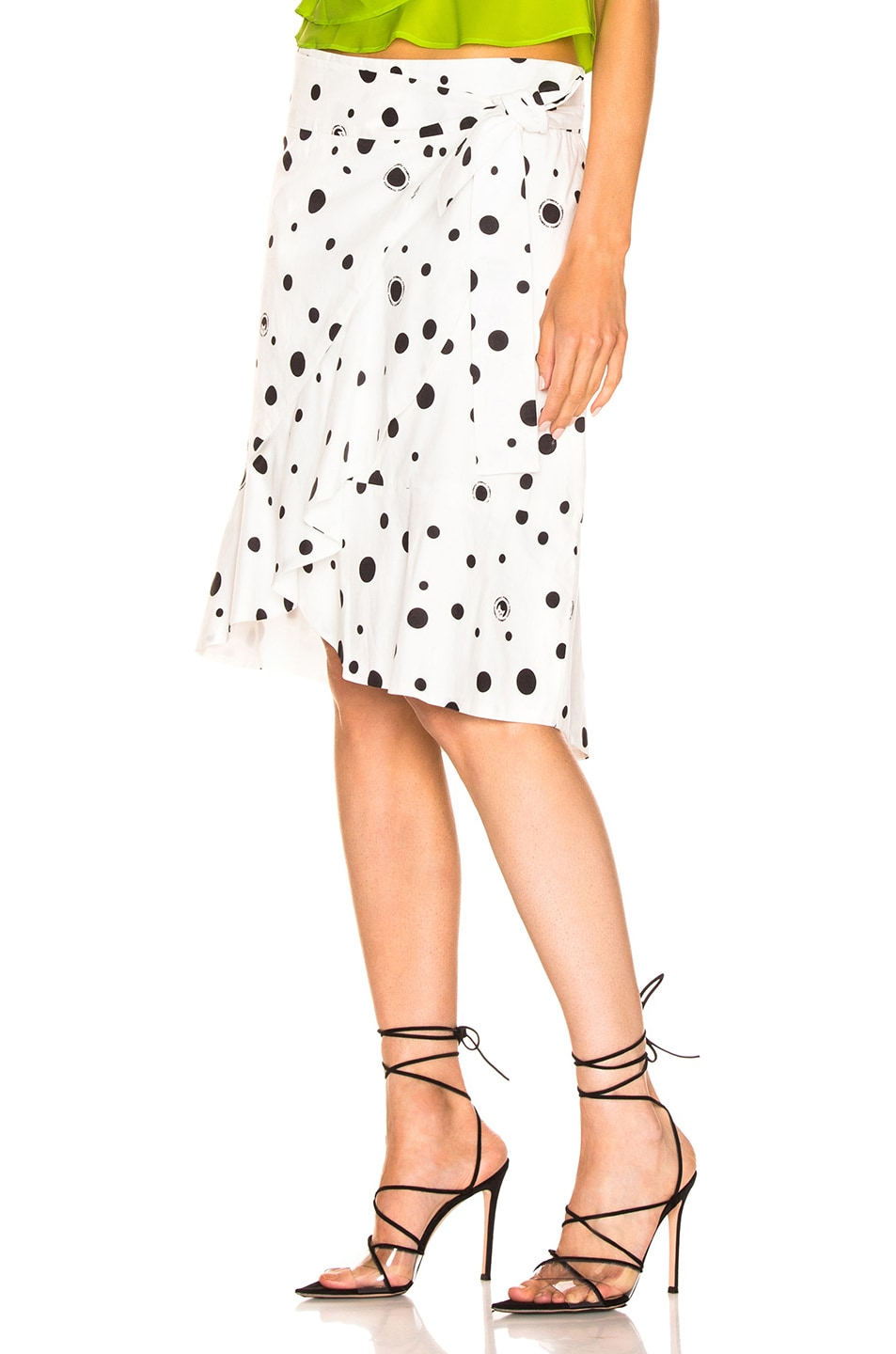Image 3 of Miaou Cecilia Skirt in White Polka Dot