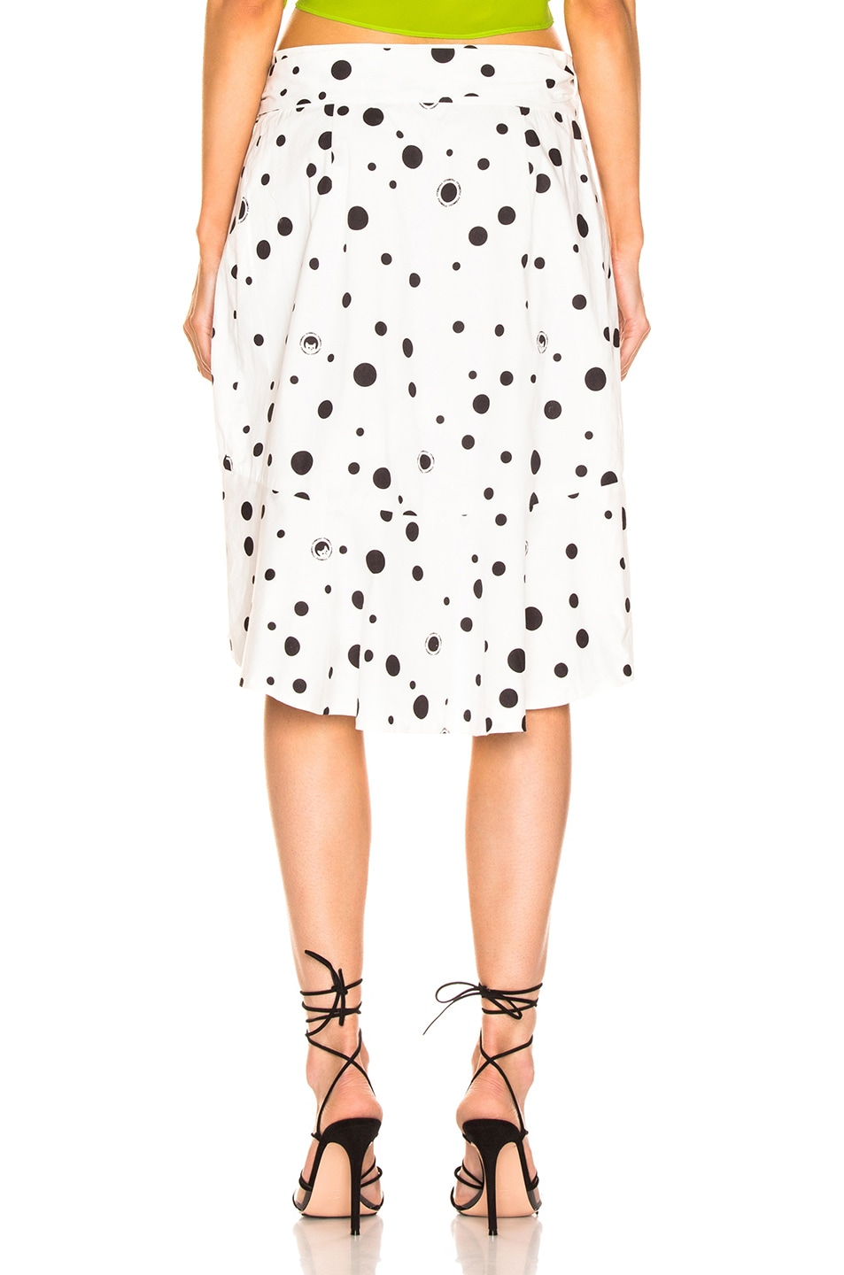 Image 4 of Miaou Cecilia Skirt in White Polka Dot