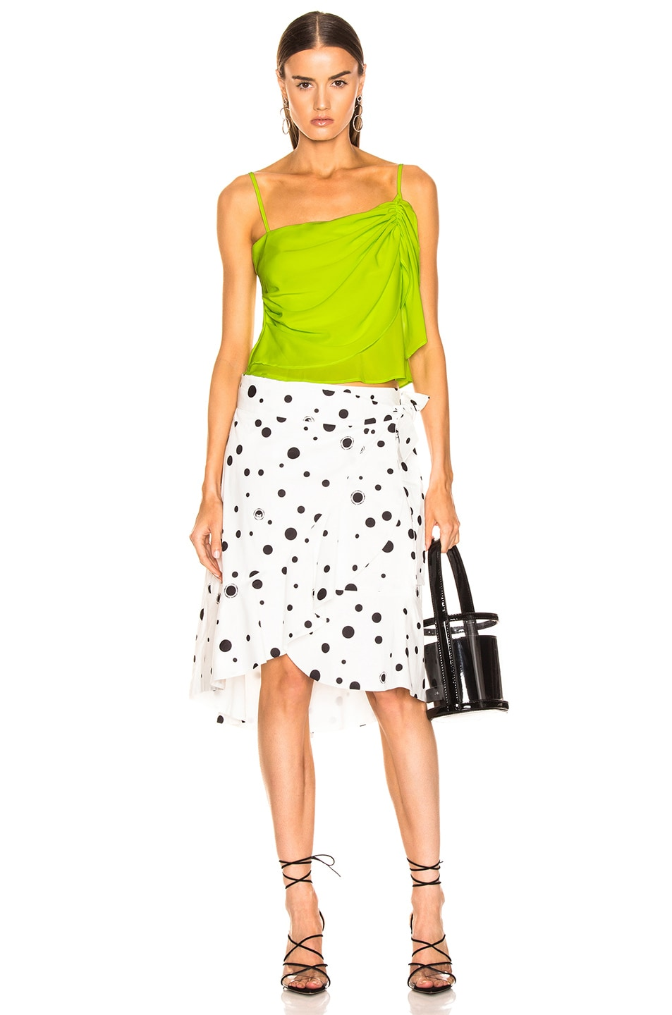 Image 5 of Miaou Cecilia Skirt in White Polka Dot