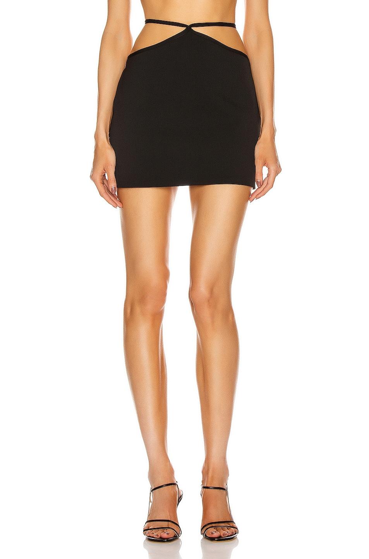 Image 1 of Miaou Nadine Mini Skirt in Black