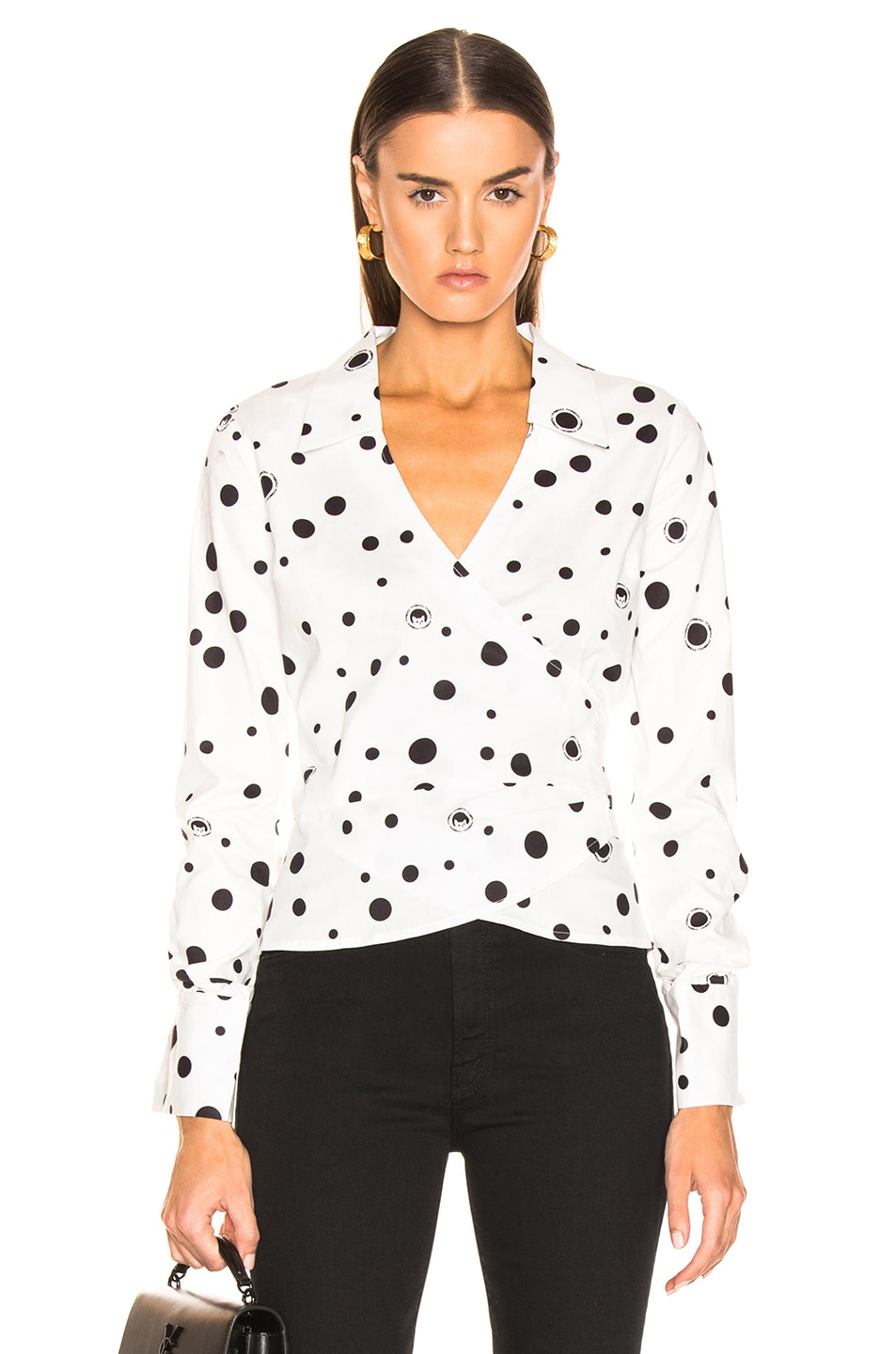 Image 1 of Miaou Betsy Top in White Polka Dot