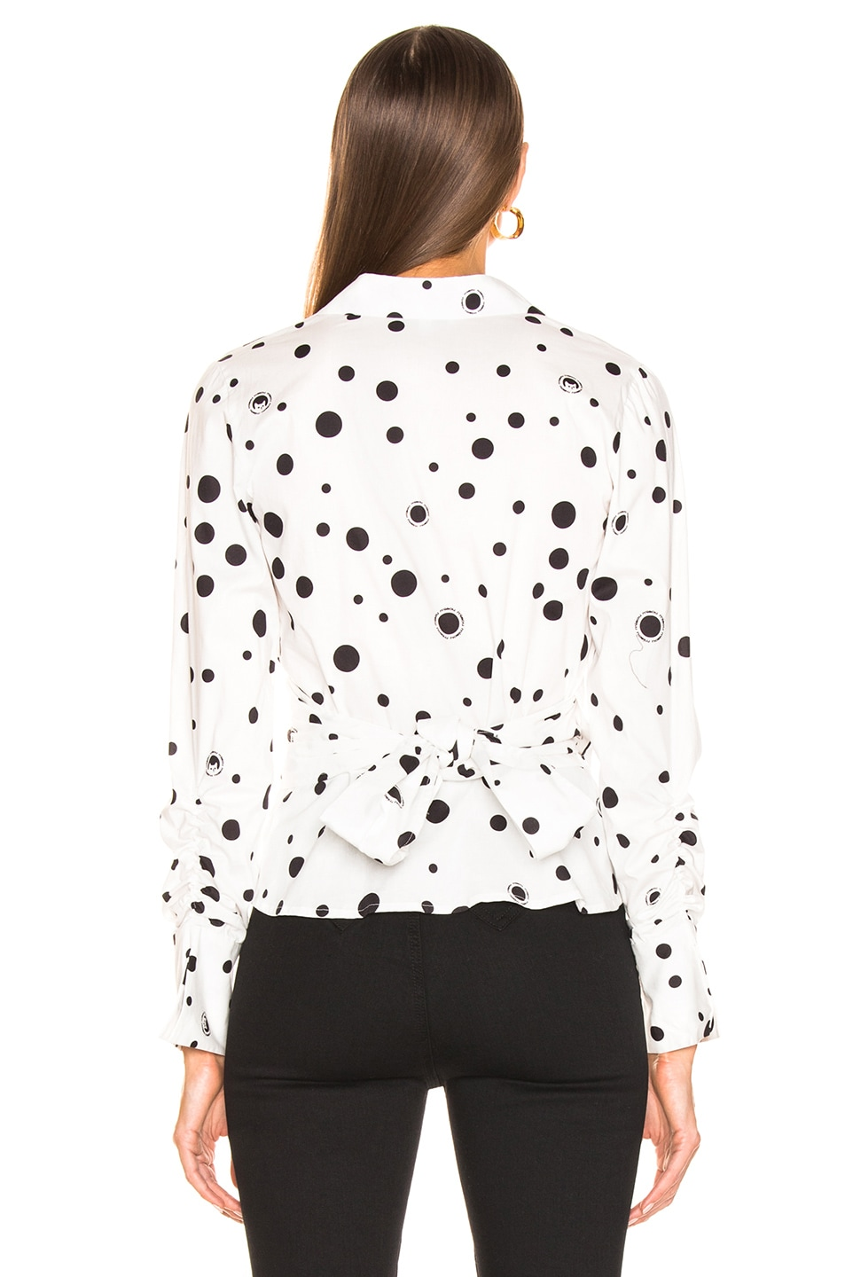 Image 3 of Miaou Betsy Top in White Polka Dot