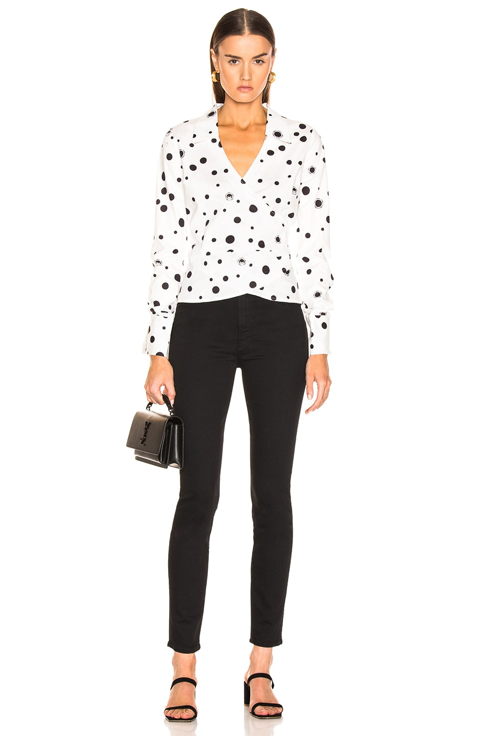 Image 4 of Miaou Betsy Top in White Polka Dot