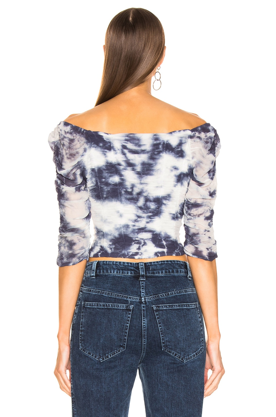 Image 3 of Miaou Madeline Top in Indigo Tie Dye
