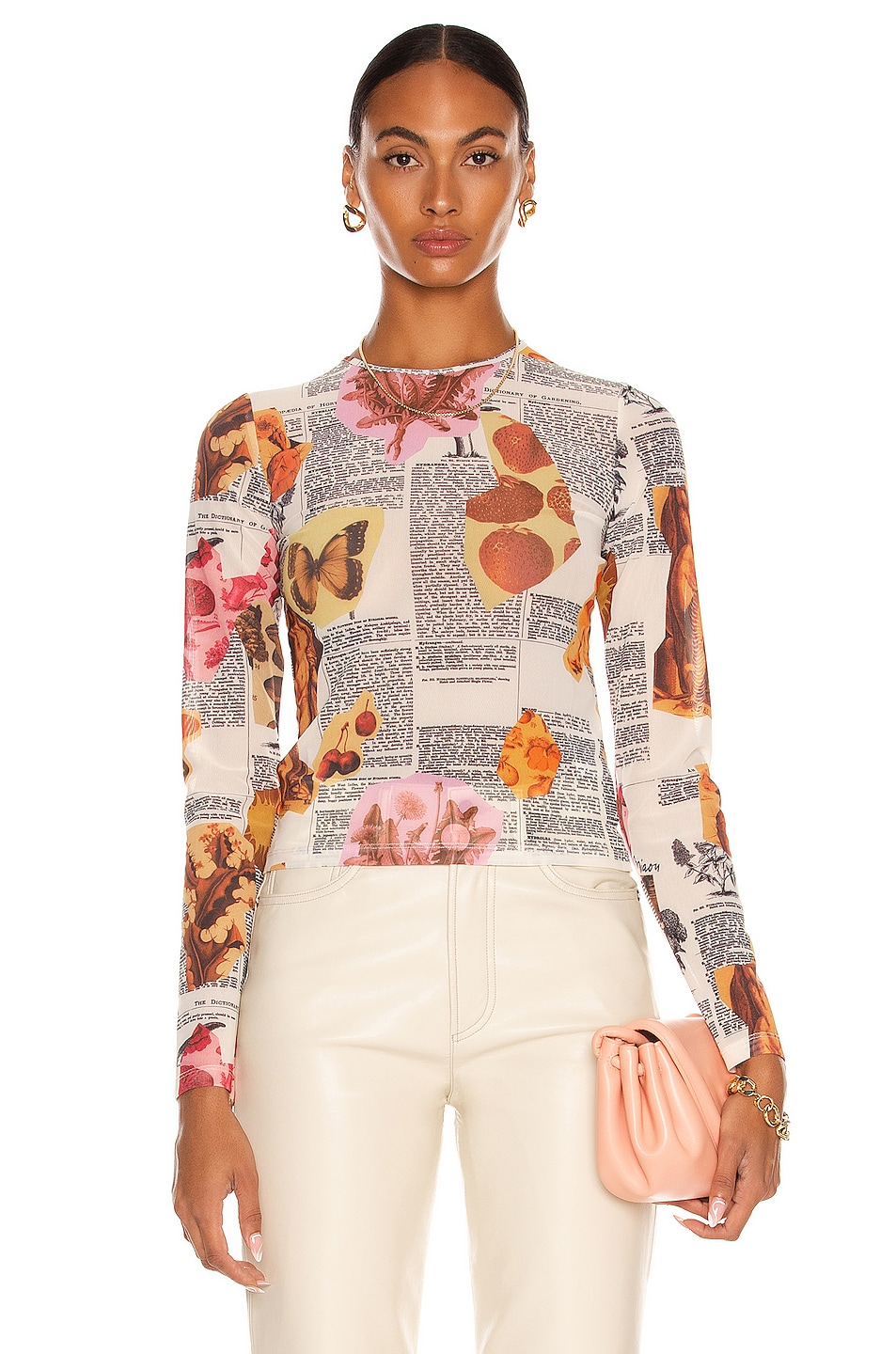 Image 1 of Miaou Long Sleeve Tee in Botany