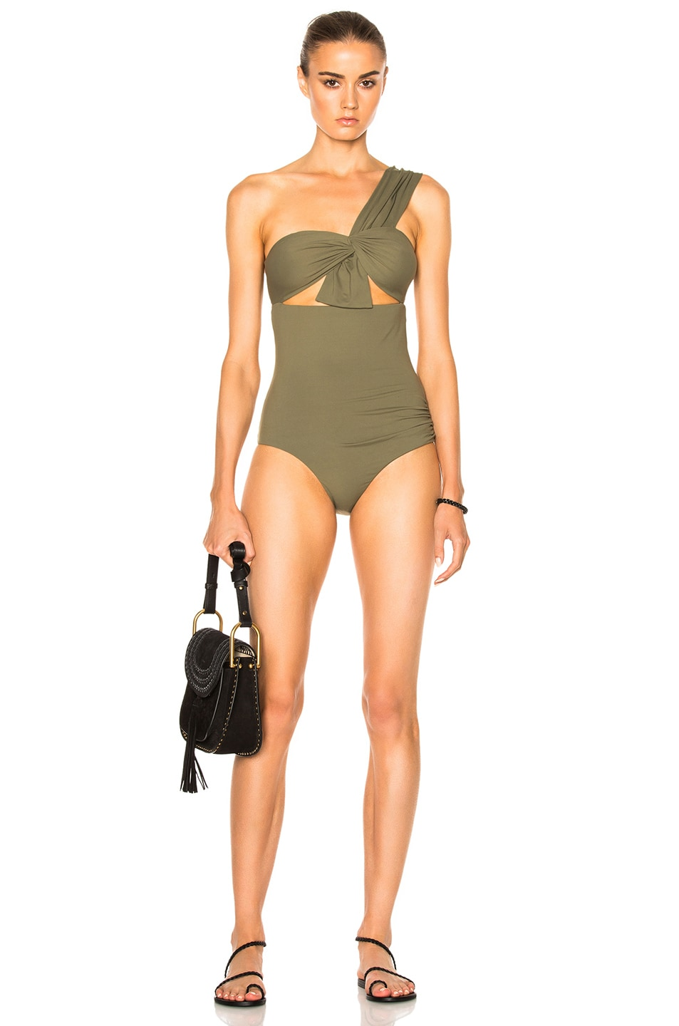 952b4102fde96 Image 1 of Marysia Swim Venice Swimsuit in Olive