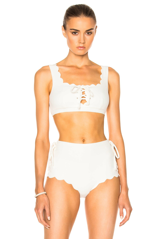 d1c0b8e0dcf Image 1 of Marysia Swim Palm Springs Tie Bikini Top in Off White