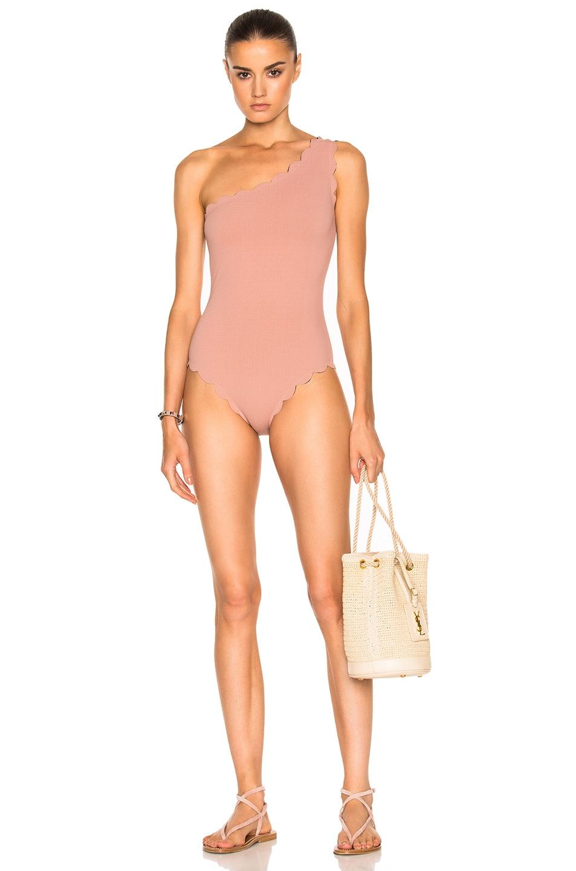 98c86a9694 Image 1 of Marysia Swim Santa Barbara Maillot Swimsuit in Pink & Indigo