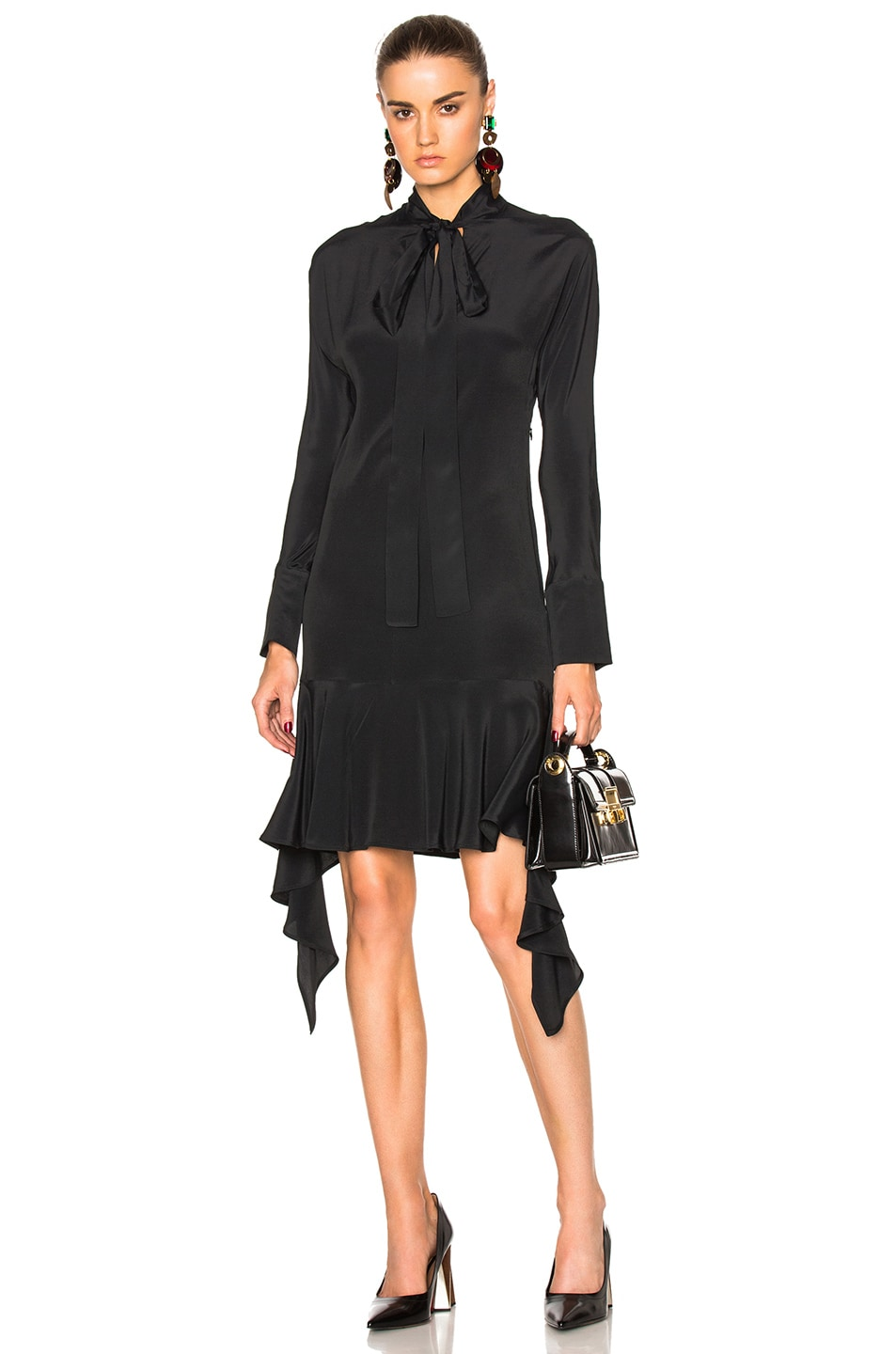 Image 1 of Marni Asymmetrical Dress in Black
