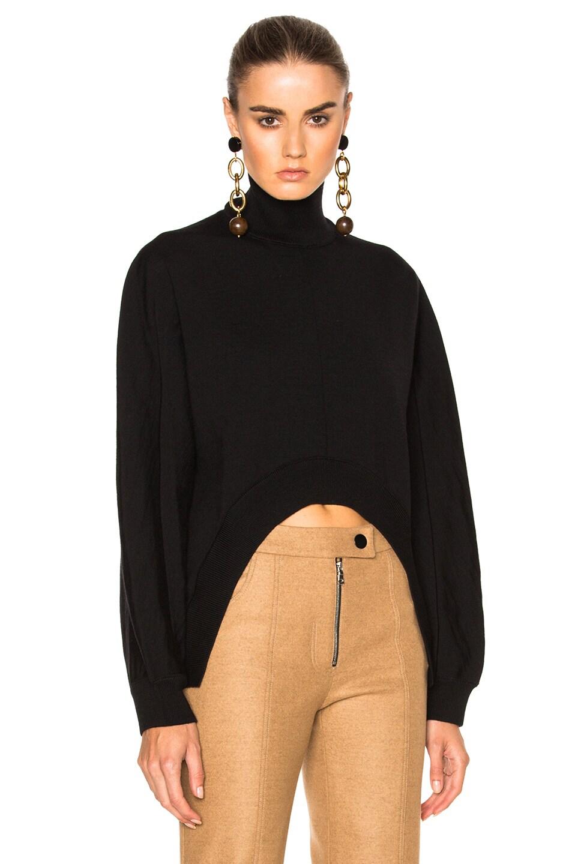Image 1 of Marni Virgin Wool Turtleneck Sweater in Black