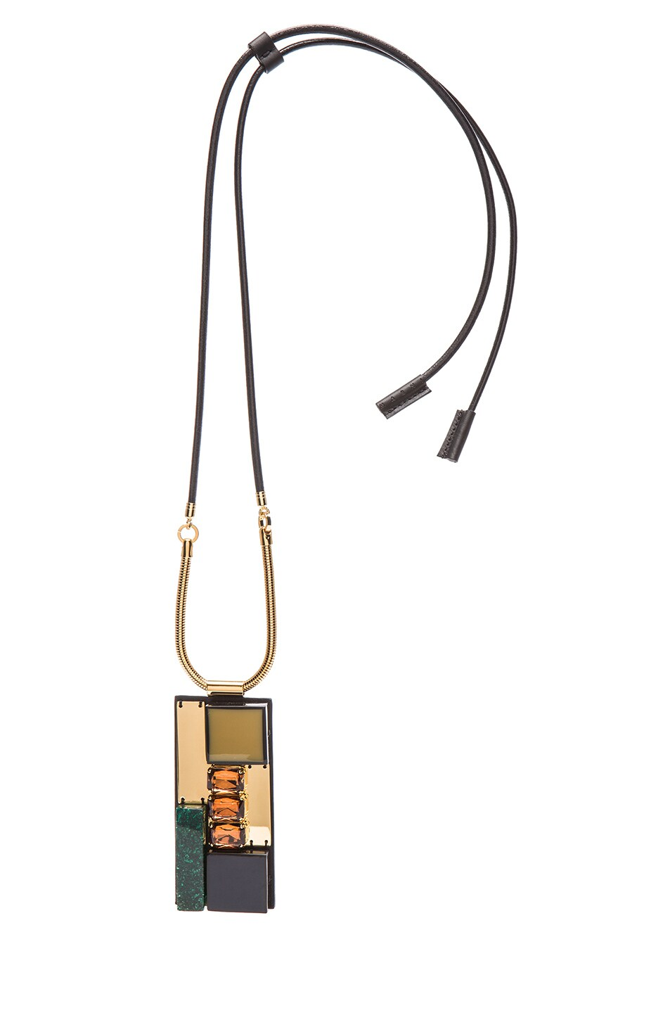 Image 1 of Marni Stones Necklace in Navy Blue