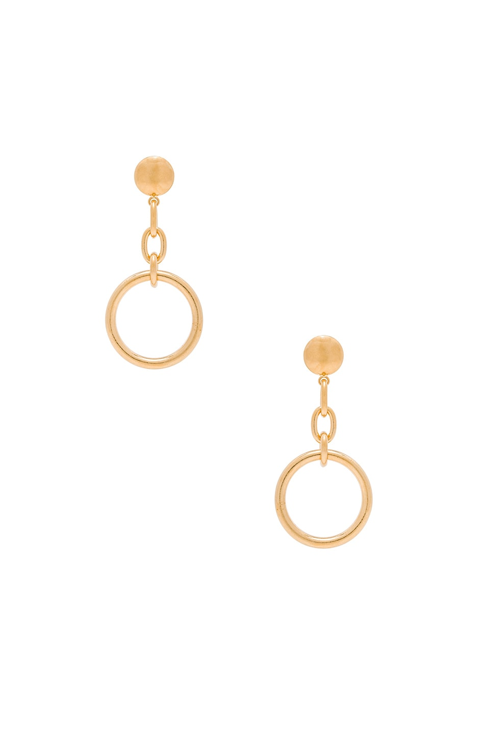 Image 1 of Marni Metal Earrings in Old Gold