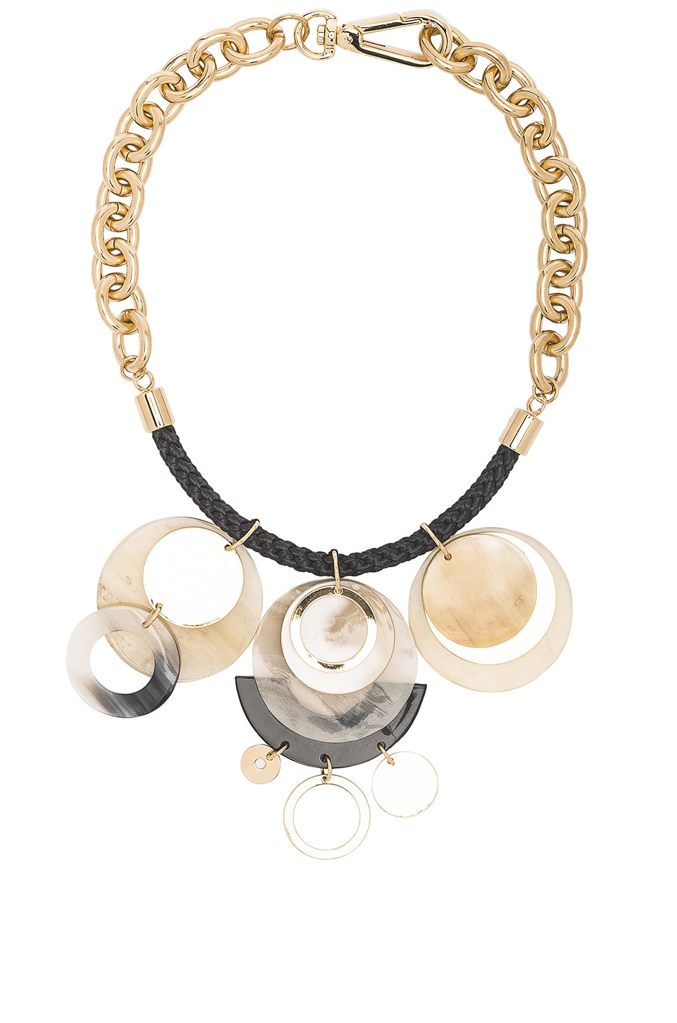 Image 1 of Marni Horn Necklace in Pale Gold