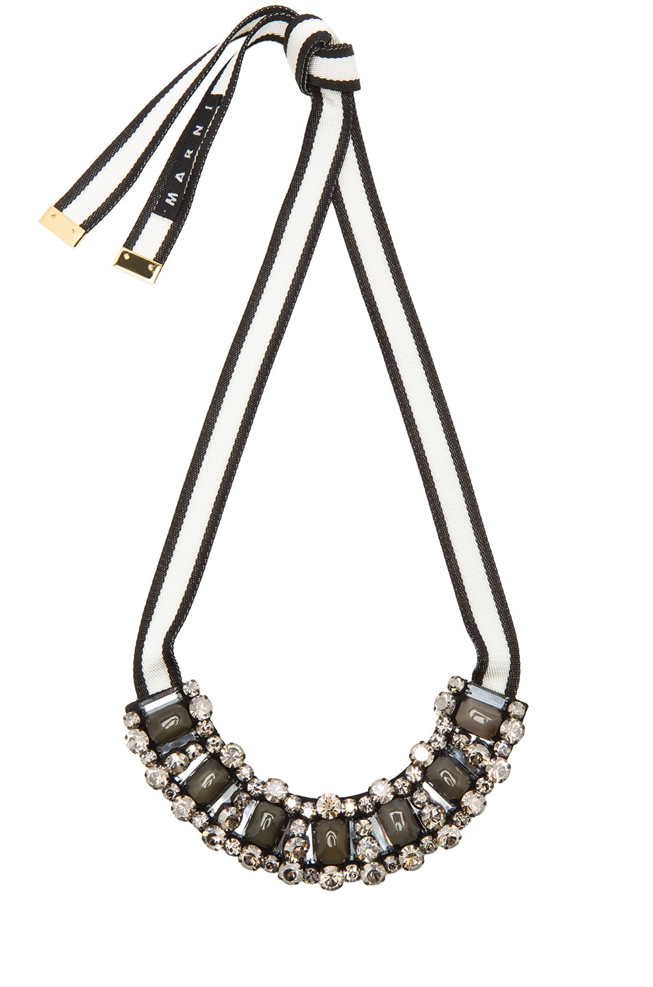 Image 1 of Marni Horn Necklace in Lily White