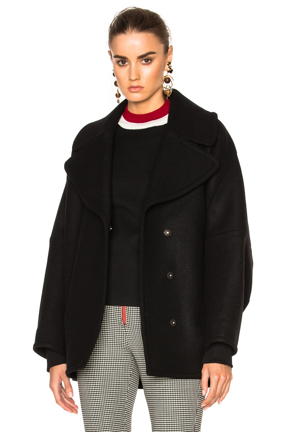 Image 1 of Marni Double Wool Cover Jacket in Black
