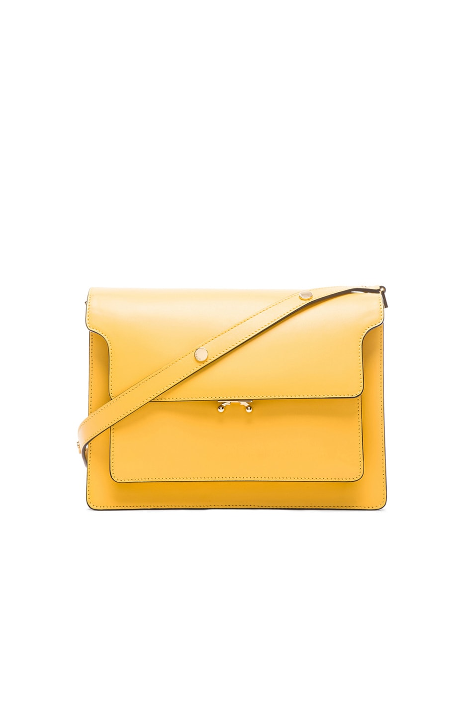 Image 1 of Marni Leather Shoulder Bag in Maize