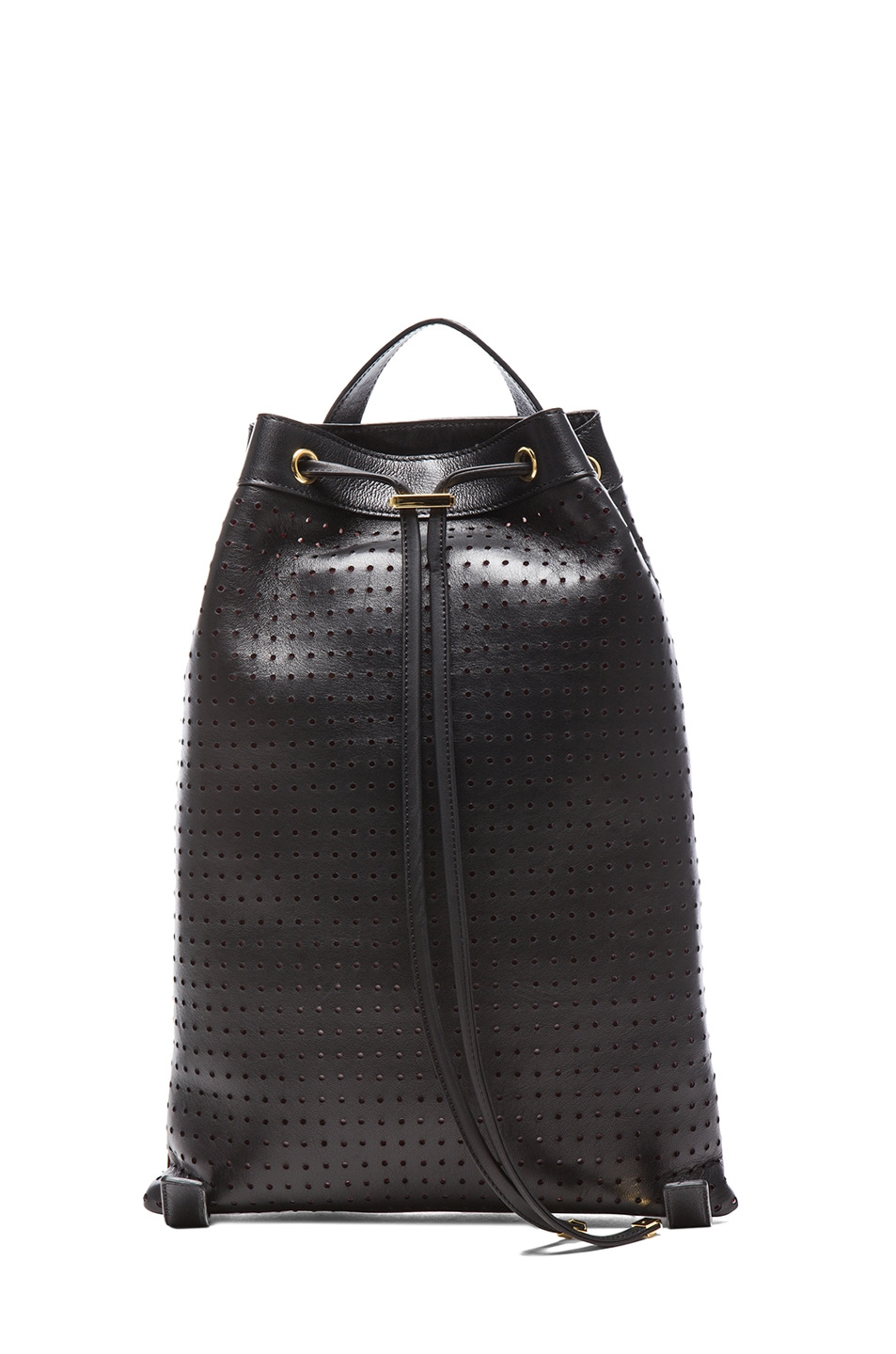 Image 1 of Marni Lamb Leather Backpack in Coal & Red