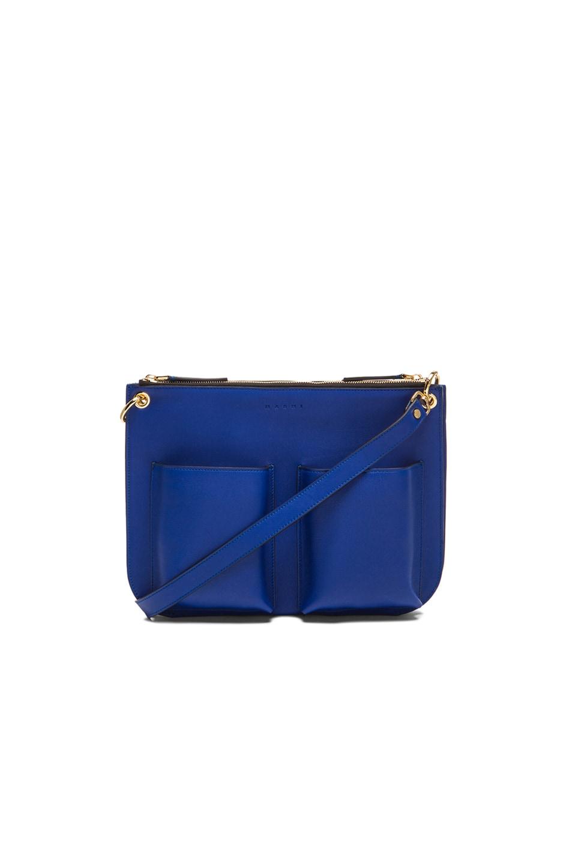 Image 1 of Marni Bandoleer Shoulder Bag in Bluette