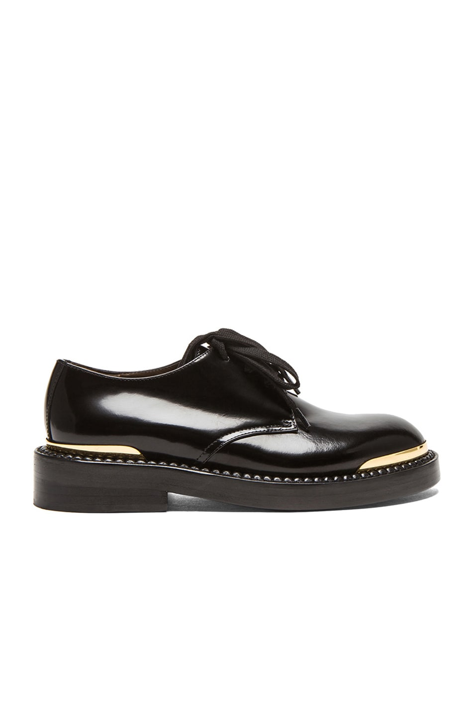 Image 1 of Marni Lace Up Leather Oxfords in Coal
