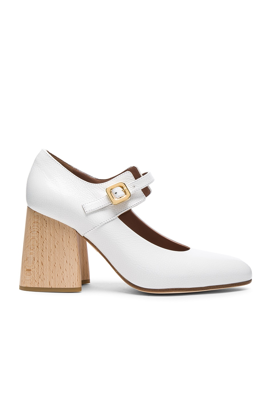 Image 1 of Marni Mary Jane Heels in Natural White