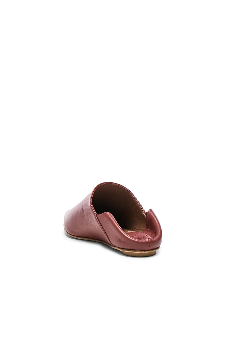 Image 3 of Marni Leather Sabot Mules in Saddle Brown