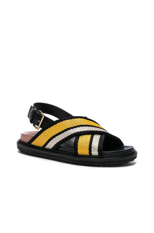 Image 2 of Marni Fussbett Sandals in Sun