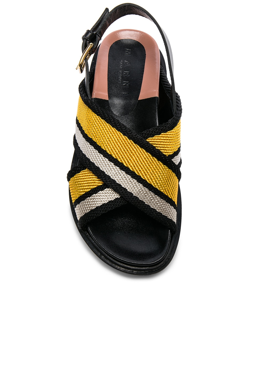 Image 4 of Marni Fussbett Sandals in Sun