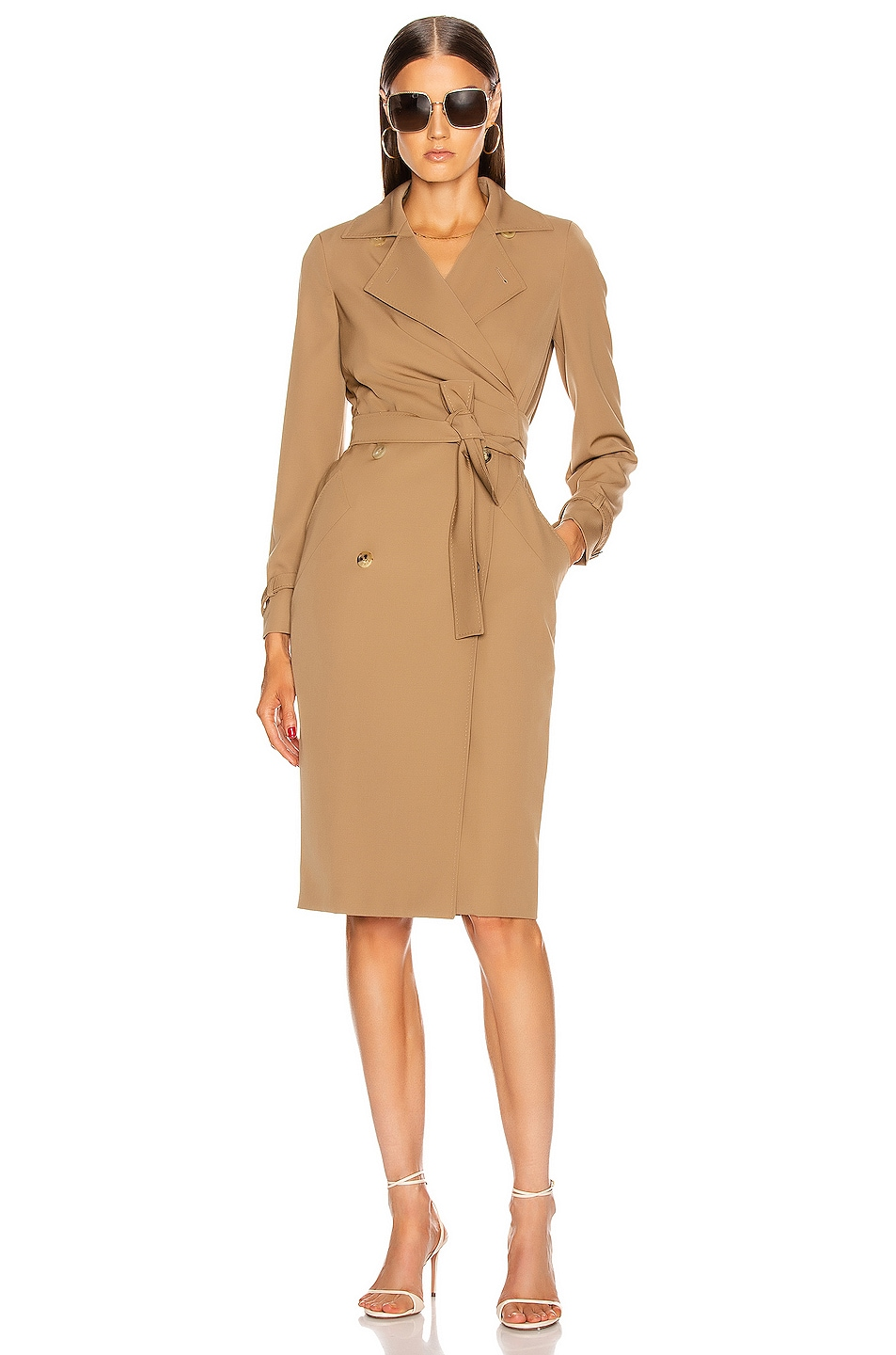 Image 1 of Max Mara Lucia Dress in Camel