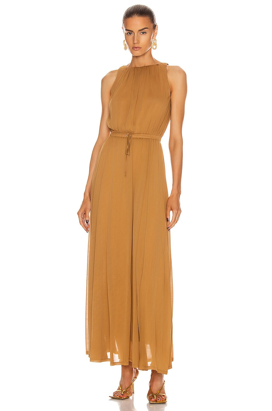 Image 1 of Max Mara Astrid Dress in Tobacco
