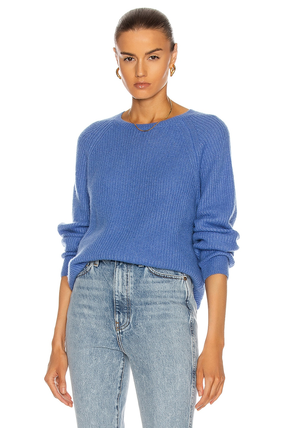 Image 1 of Max Mara Bouquet Cashmere Sweater in Light Blue
