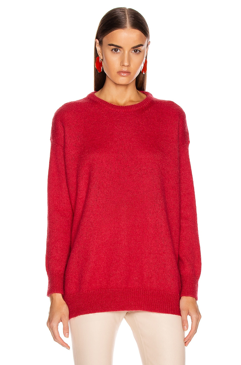 Image 1 of Max Mara Relax Sweater in Coral
