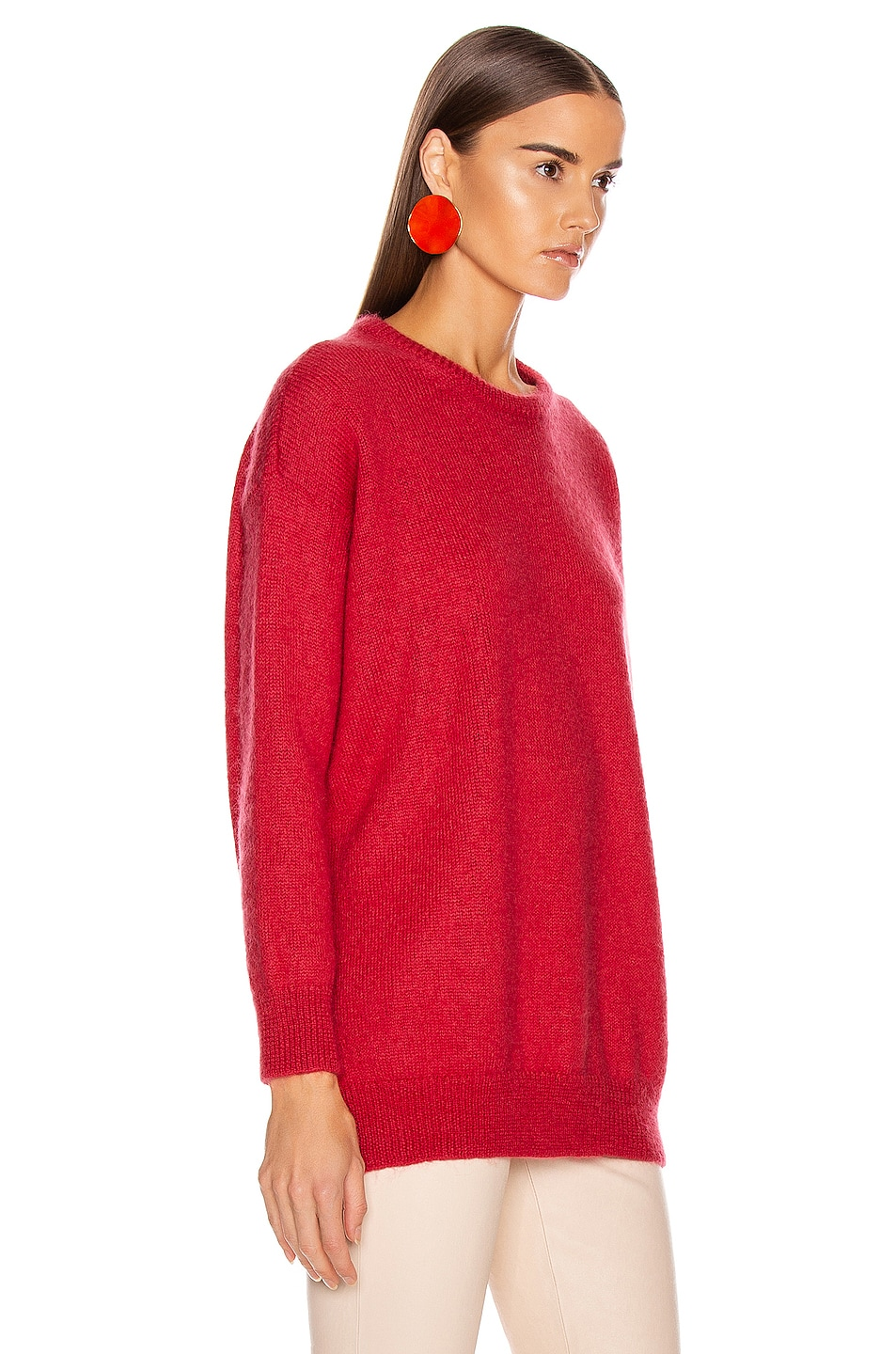 Image 2 of Max Mara Relax Sweater in Coral