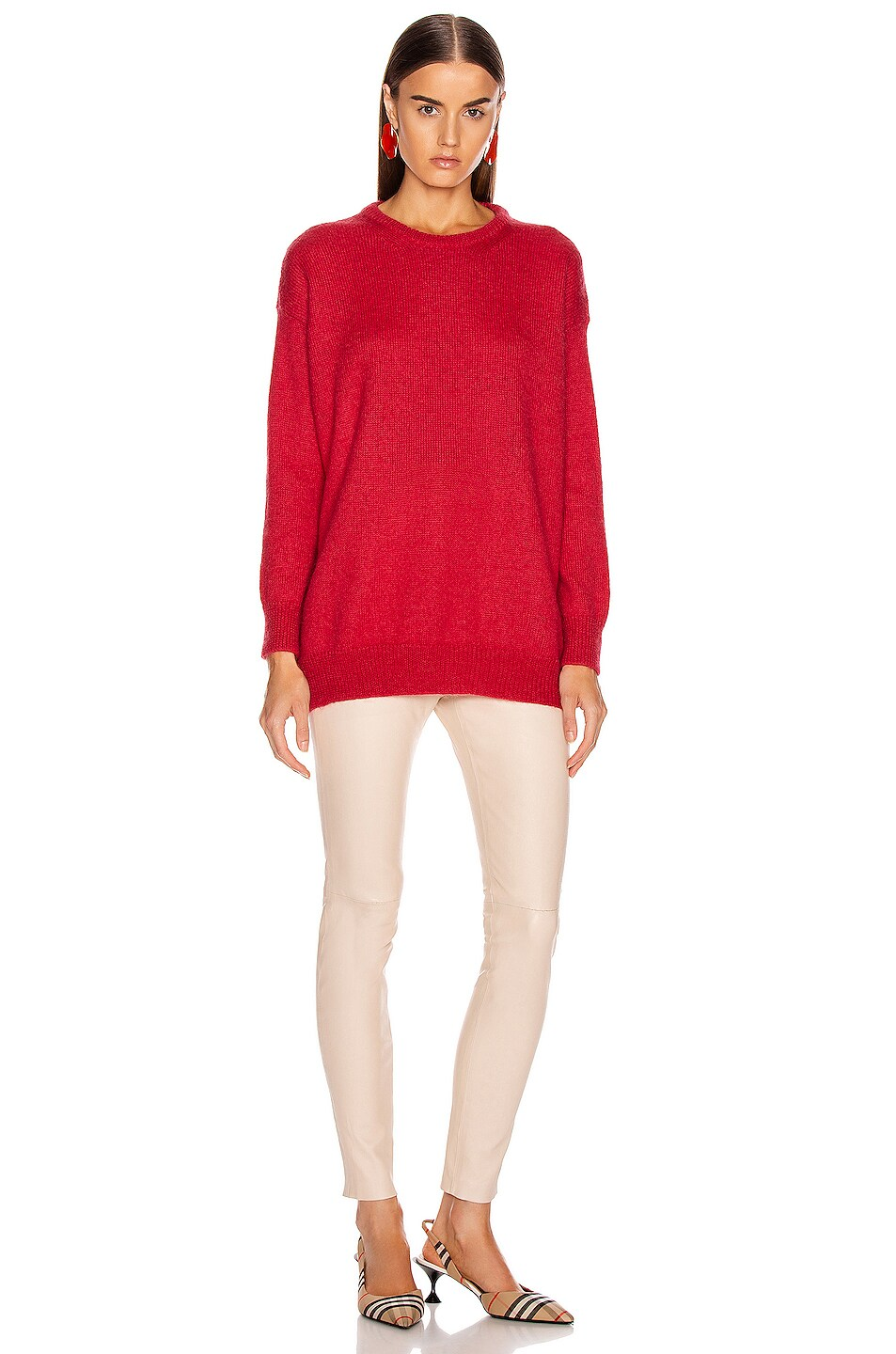 Image 4 of Max Mara Relax Sweater in Coral