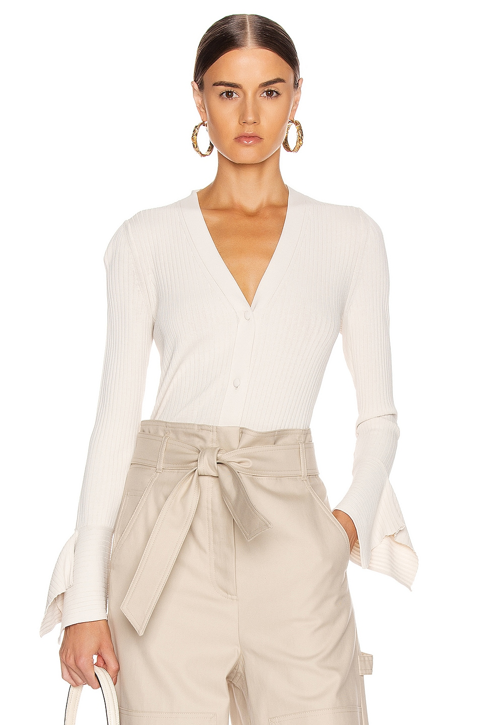 Image 1 of Max Mara Gong Cardigan in Ivory