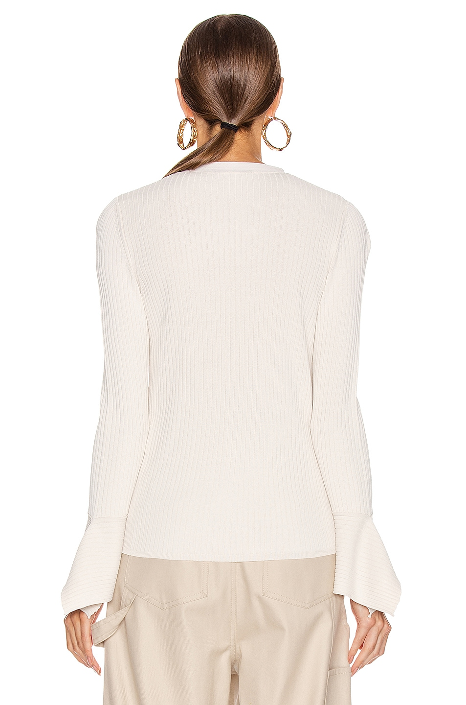 Image 3 of Max Mara Gong Cardigan in Ivory