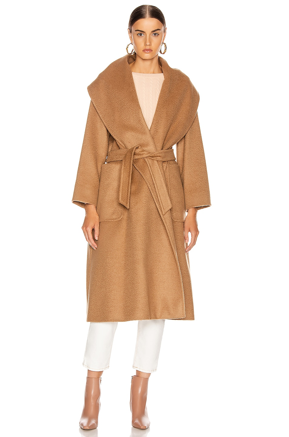 Image 2 of Max Mara Gufo Coat in Camel
