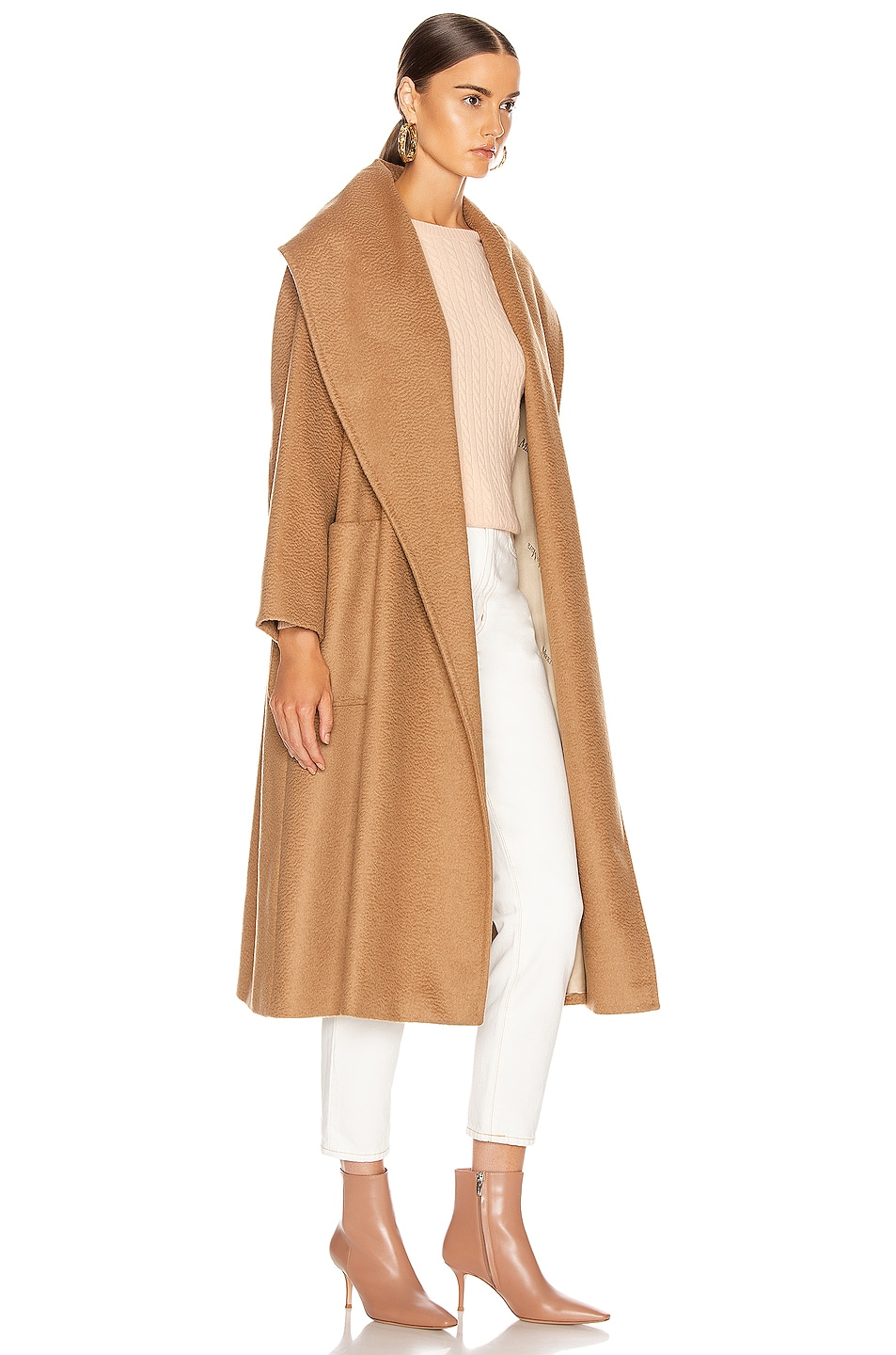 Image 3 of Max Mara Gufo Coat in Camel