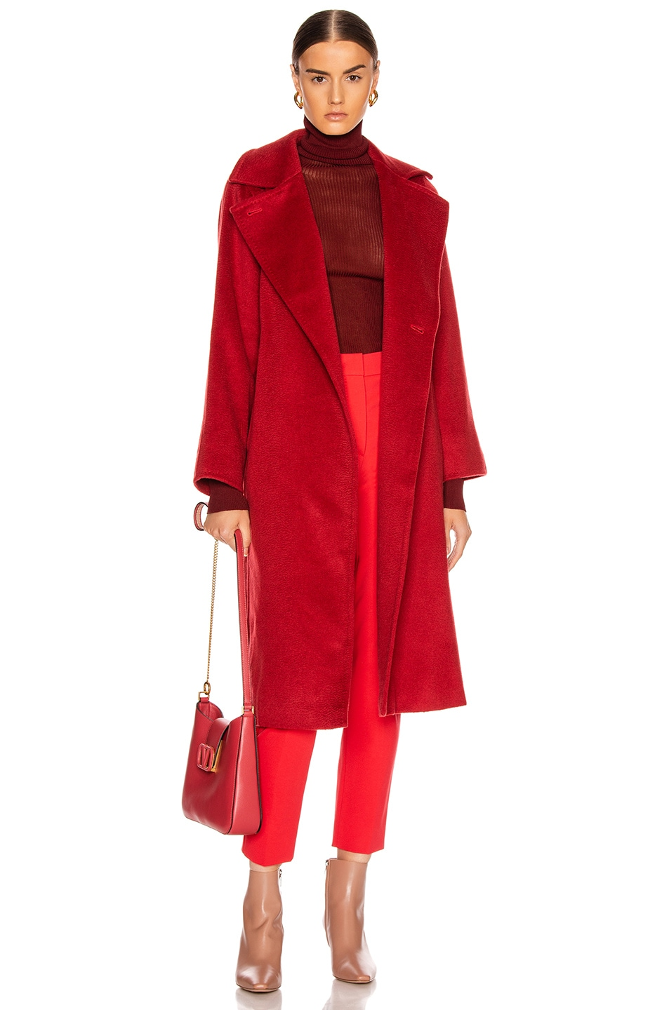 Image 1 of Max Mara Manuel Coat in Red