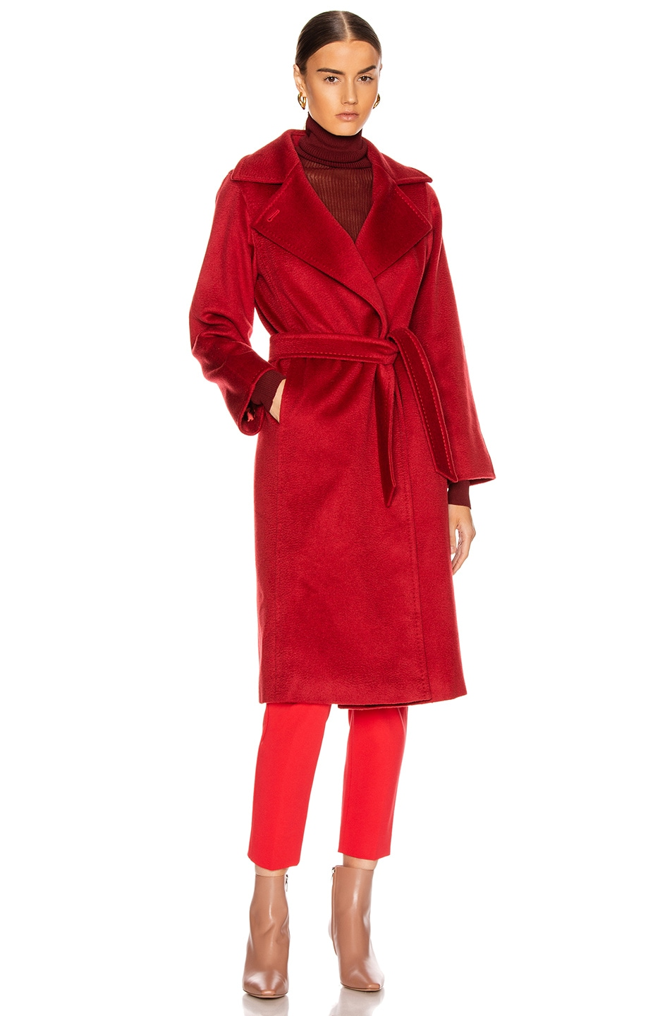 Image 2 of Max Mara Manuel Coat in Red