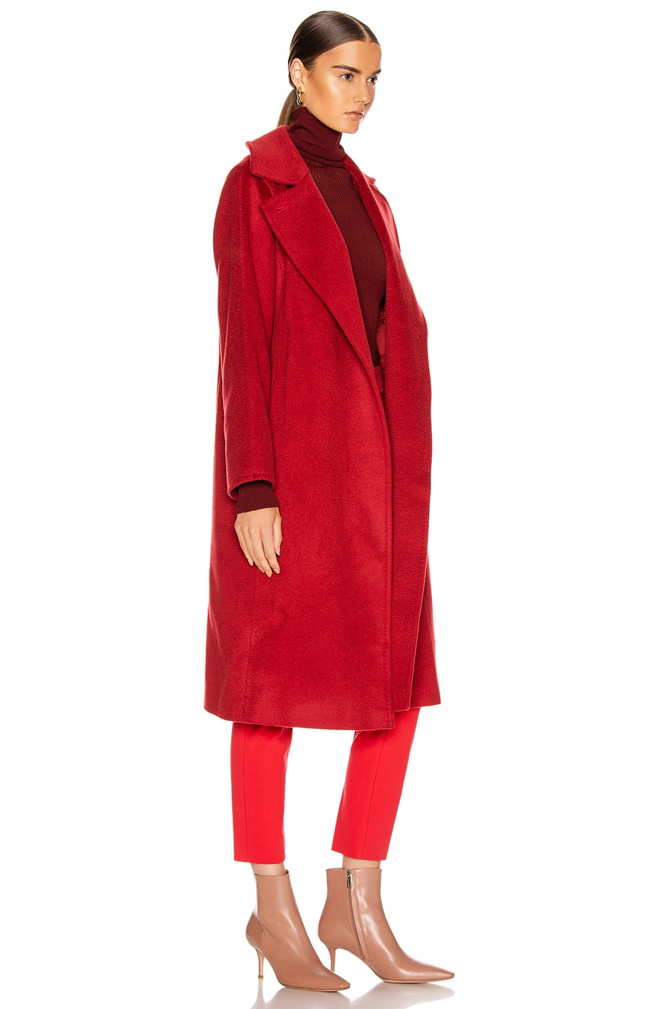 Image 3 of Max Mara Manuel Coat in Red