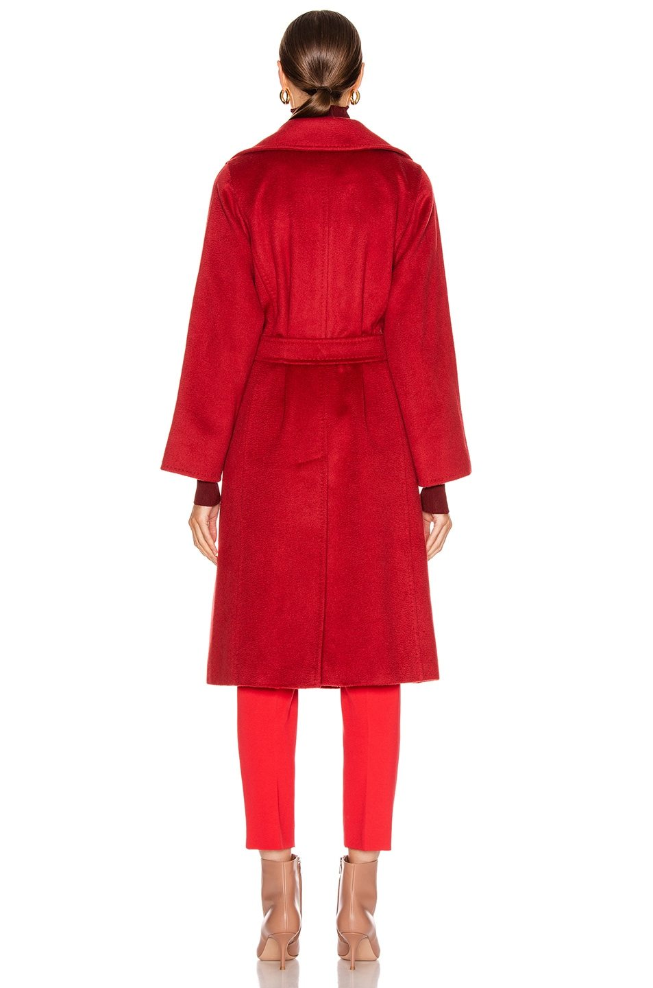 Image 4 of Max Mara Manuel Coat in Red