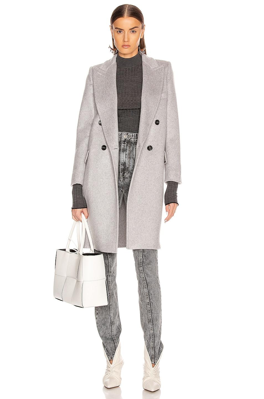 Image 1 of Max Mara Alba Coat in Pearl Grey