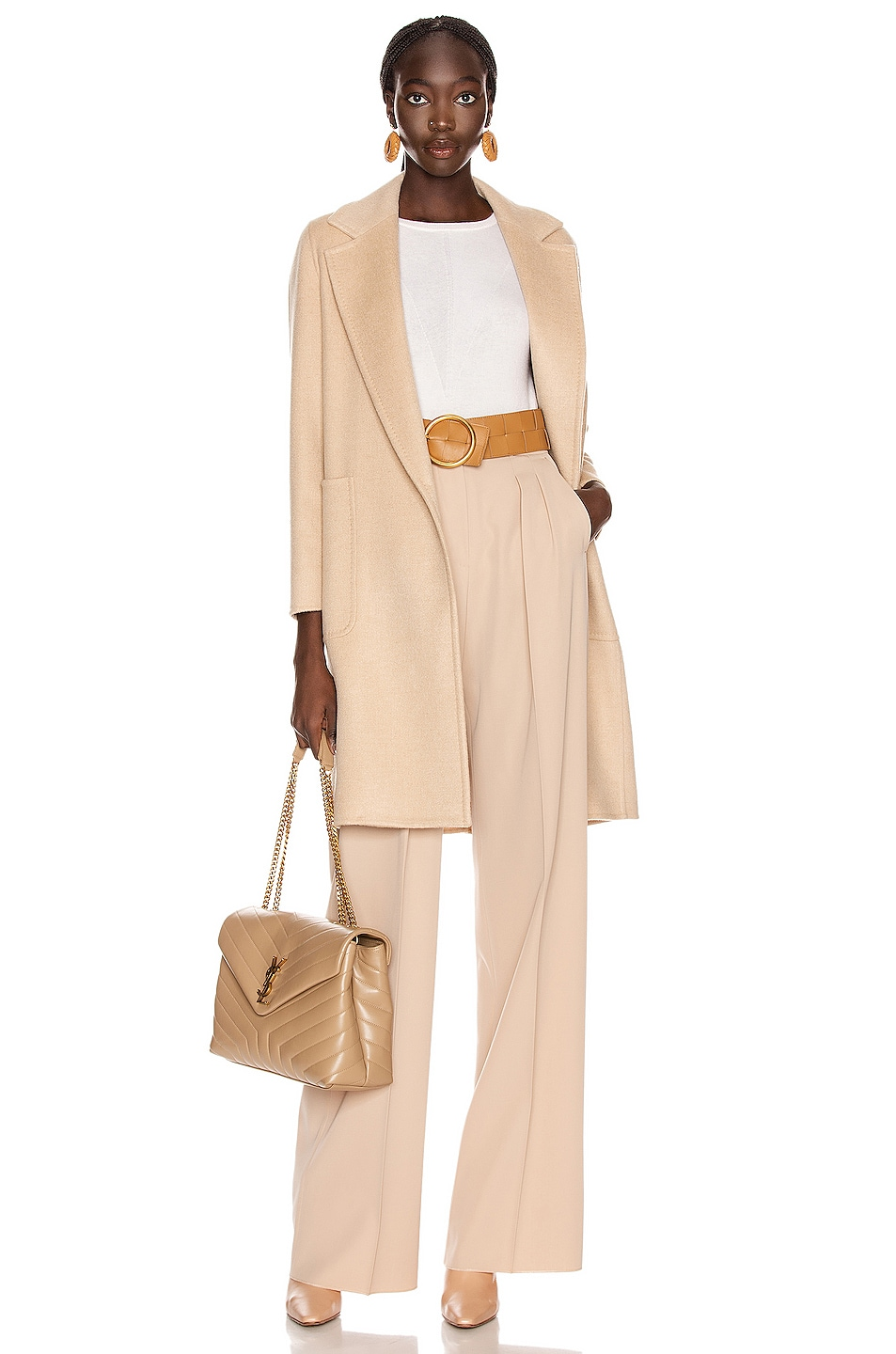 Image 1 of Max Mara Elis Coat in Albino
