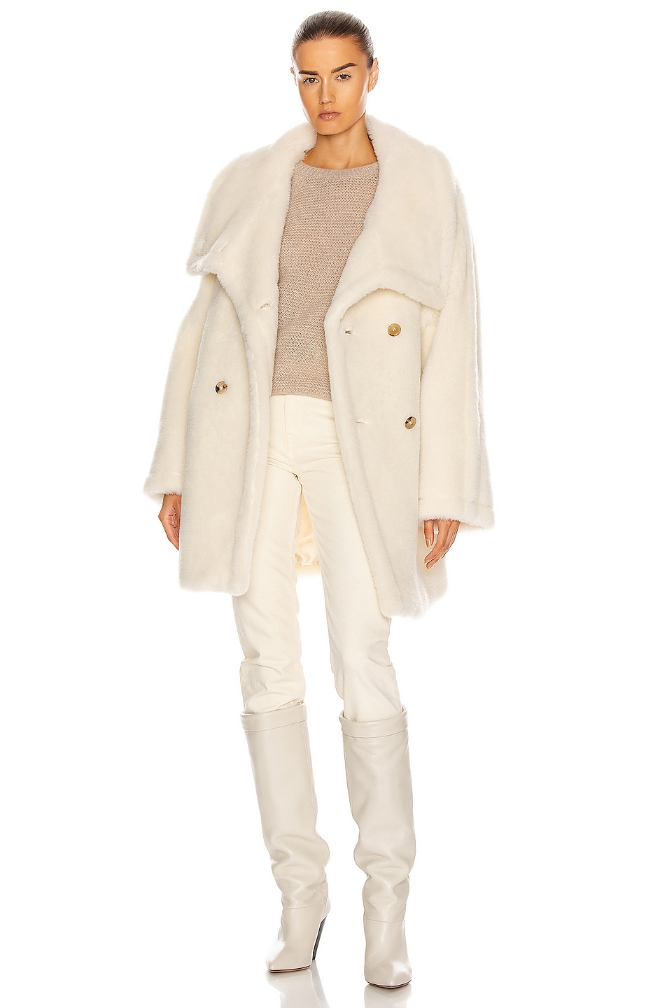 Image 1 of Max Mara Teddy Coat in White